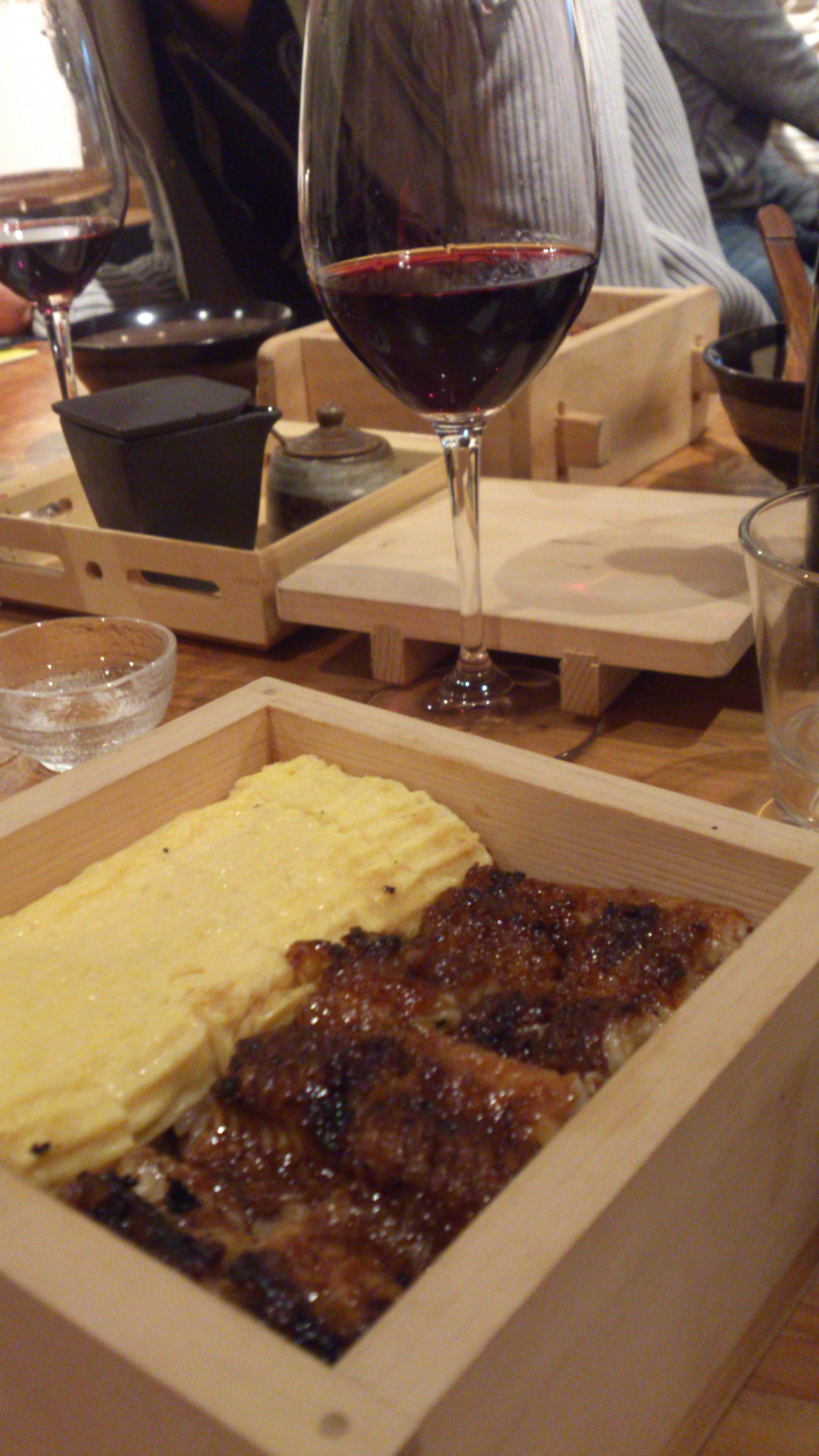 うなぎ と ワイン